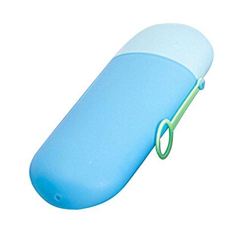 Praktische Organizer Reise Camping Bad Zahnbürste Zahnpasta Halter Abdeckung schützen Fall Box Wasser Schale blau & hellblau