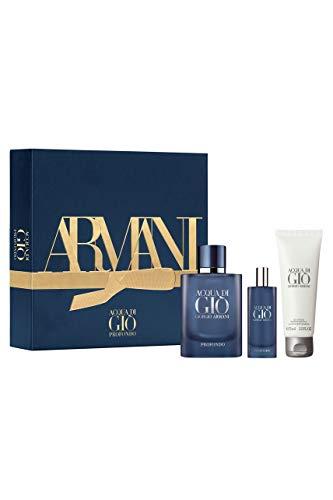 Armani Acqua Di Gio Profondo 3 pc Gift Set, EDP 2.5 oz + .5 oz + Shower Gel 2.5 oz
