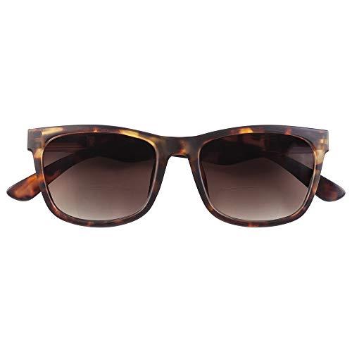 Babsee | bifocal Sonnenlesebrille Neil | Lesebrille getönt & mit Sonnenschutz | Ideale Sonnenbrille mit Sehstärke/Lesehilfe, Lesesonnenbrille, Sonnenbrille für Brillenträger | Herren & Damen