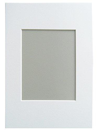 walther design PA825S Passepartout, Passepartoutformat 18x24 cm, Bildformat 13x18 cm, Polarweiß