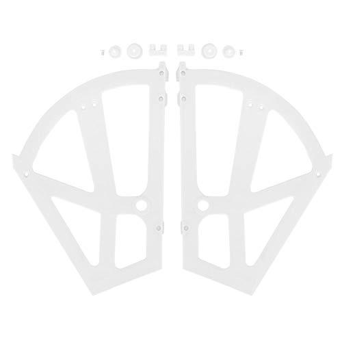 NOBRANDS Samfox Home - Accesorio para bisagras de Soporte de Estante de Zapatero de Dos Capas con Hueco de plástico para el hogar(Blanco)