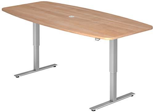 bümö® ergonomischer Konferenztisch elektrisch höhenverstellbar | elektrischer Besprechnungstisch | höhenverstellbarer Meetingtisch oval rund...