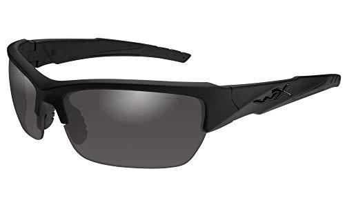 WileyX - Gafas de sol unisex Wx Valor, color negro mate, gris ahumado, talla pequeña/grande