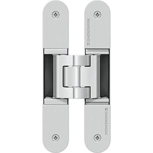 Simonswerk 5 400605 0 12402 Türband TECTUS TE 340 3D, verdeckt f. stumpfe Türen, silberfärbig beschichtet