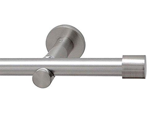 Gardinenstange 16mm 1-Lauf Edelstahloptik, 160cm