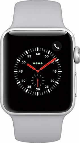 Apple Watch Series 3 (GPS) 38mm Smartwatch (Silver Aluminum Case, Fog Sport Band)