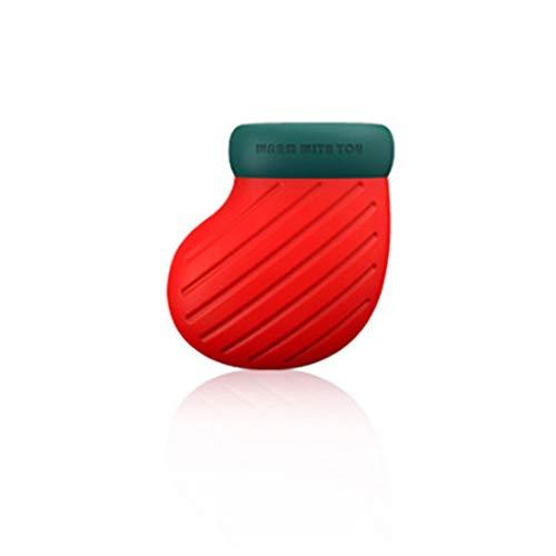 YUHUANG Kreative Silikon Wärmflasche, Wasserkocher, Handwärmer, Mini Weihnachten Handschuhe Socken-Füße * 1