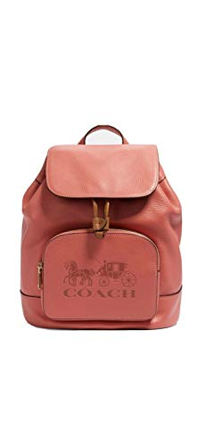 Coach Backpack Jes Backpack With Horse And Carriage Print (Bright Coral)