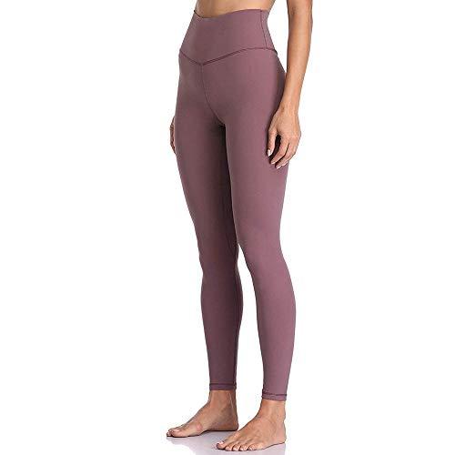 4-way stretch yoga-legging,Legging met hoge taille buikbroek, fitness yoga joggingbroek-paars_XL,Yogabroek extra zachte legging met zakken voor dames