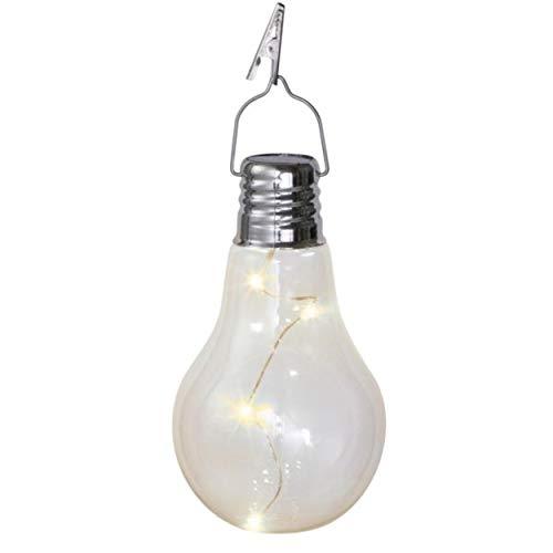 DDL コンセント 電池 電源いらず 半永久 電球型 おしゃれ ソーラーライト (イルミネーション エクステリア装飾から アウトドア グランピングに)