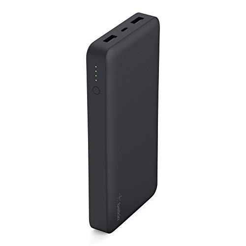 Belkin Pocket Power Bank 15000mAh Fast Portable Charger (Certified Safety) for iPhone X/8/7, iPad, Samsung Galaxy S9/S8/S7, Black