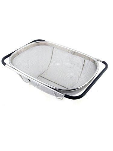 Rituraj 34*22 CM Stainless Steel Expanding Colander Basket Or Sink Strainer Retractable Drain Basket...
