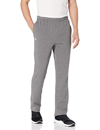 Starter Men's Open-Bottom Sweatpants with Pockets, Amazon Exclusive, Iron Grey Heather, Large