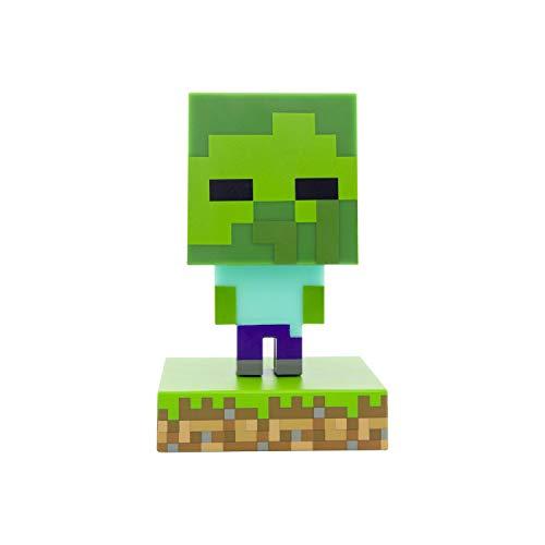 Paladone Minecraft Zombie Icon Light BDP | Mini luz de noche | Divertido pixelado súper brillante, multicolor, PP6592MCF
