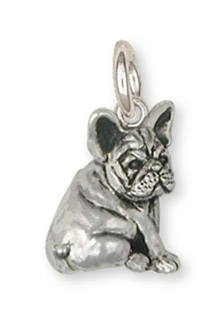 Esquivel and Fees French Bulldog Jewelry Sterling Silver French Bulldog Charm Handmade Dog Jewelry FR21-C