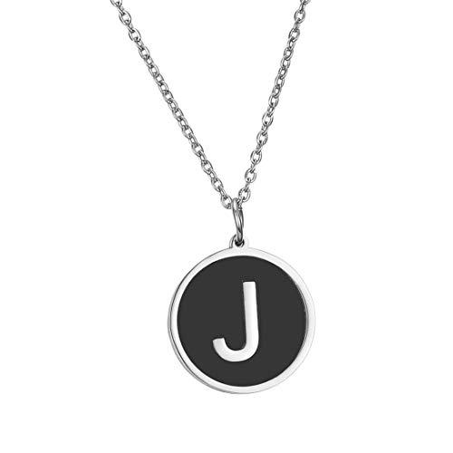 HengYing, Collana con Ciondolo a Forma di Lettera dell'alfabeto dalla A alla Z, per Ragazze e Donne e Acciaio Inossidabile, Colore: J, cod. H0A0AS4F9