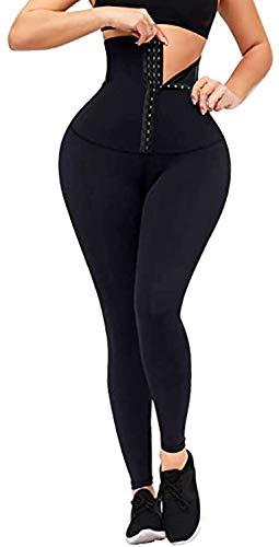 Corsé Gimnasio Leggings Mujeres Cintura Alta Adelgazamiento Cuerpo Shaper Control de Barriga Pantalones de Yoga