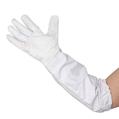 M.Z.A Imkerhandschuhe Ziegenleder Schutzhandschuhe Bienenenschutz Handschuhe Handschutz Bienenenwerkzeug Ideal für Imker Lederhandschuhe mit belüfteten Ärmeln