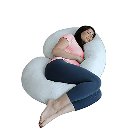 Product Image of the COMFYSURE Full Body Pregnancy Pillow - 58' J Shaped Maternity Pillow or Back...