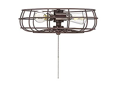 "Savoy House FLG-104-13 Ratcliffe 3-Light Industrial Fan Light Kit in English Bronze (15"" W x 5"" H)"