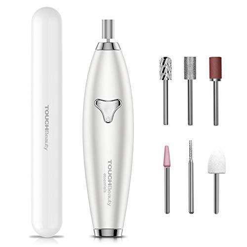TOUCHBeauty Dratlose Elektrische Nagelfeile USB C Aufladbar, 6 in 1 Elektrisches Maniküre Pediküre Set, 8 Einstellbare Geschwindigkeiten, super für Gelnägel, Acrylnägel,...