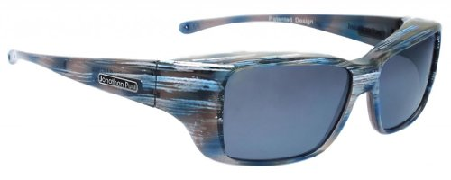 Jonathan Paul Fitovers Nowie Small Polarized Over Sunglasses ; Steel & Polarvue Gray
