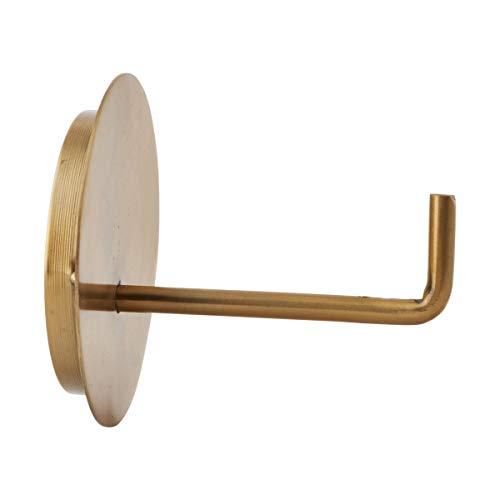 House Doctor Toilettenpapierhalter, Text, Messing, Dm: 13 cm, l: 12,5 cm, Je0184