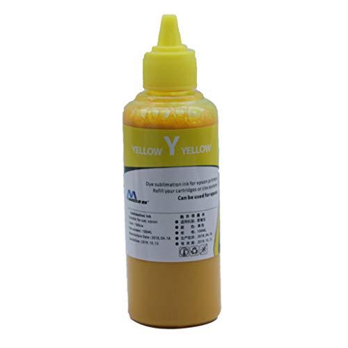 Qirun Tinta de Recambio de Transferencia de Calor de Tinta de sublimación de 100 ml para Impresora de inyección de Tinta Tinta de sublimación de Cartucho Recargable