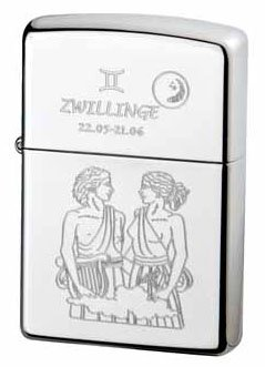 Zippo briquet collection zodiac gémeaux
