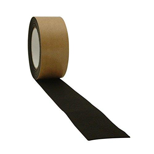 JVCC FELT-06 Polyester Felt Tape [1mm thickness felt]: 2 in. x 15 ft. (Black)