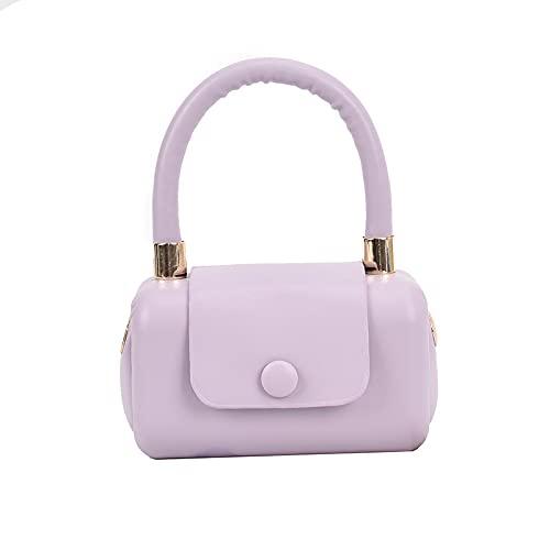 QIANJINGCQ, bolso de mensajero, bolso de moda, color caramelo salvaje, bolso de hombro informal simple, diseño de color sólido, mochila para mujer con personalidad