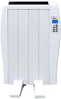 Haverland EC 4 | Emisor Térmico de 4 Elementos de Aluminio 600W | Hasta 8m2 | Bajo Consumo | Calentamiento Rápido | Temporizador | Mando a Distancia | 3 Modos | Incluye patas y soporte para pared.