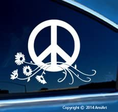 AmiArt Peace Decal Sign Symbol Car Window Sticker - Large Size 7