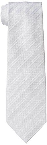 [ドレスコード101] フォーマル 結婚式 ネクタイ ストライプ メンズ 新郎 冠婚葬祭 入学式 洗える ホワイト ...