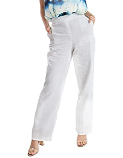 Dalydress Elastic-Waist Side-Pocket Wide-Leg Pants for Women