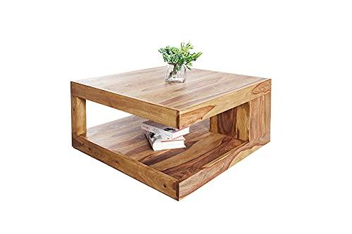 DuNord Design–Mesa Goa Palisandro mesa de madera maciza, natural honey 80cm x 80cm