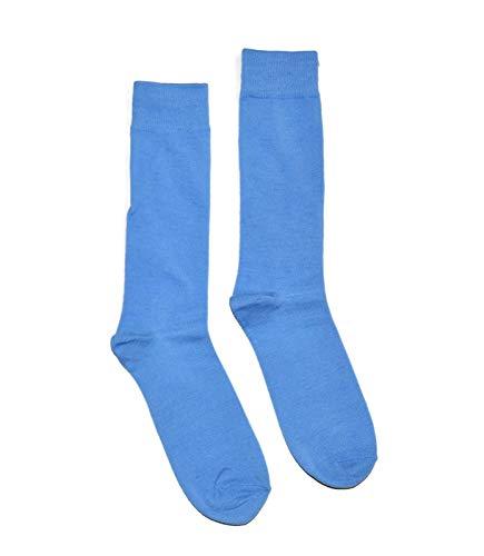 Bop Classy Men's Colorful Fancy Dress Socks 1 Pair - Solid Colors (Blue (Light Blue))