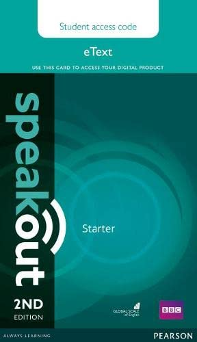 Speakout Starter eText Access Card