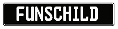 A. Sievers GmbH Fun Schild | Wunschkennzeichen | Namensschild | Fun Kennzeichen | 520x110 mm | viele Farben | Funschilder individuell mit Wunschtext gestaltbar für wenig Geld (Schwarz)