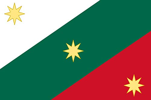 magFlags Bandera Large First Flag of The Mexican Empire | Mexican Regency First Flag of The Mexican Empire | Bandera Paisaje | 1.35m² | 90x150cm