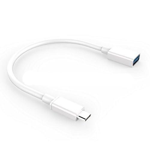 BlueBeach® Reversibile USB 3.1 di tipo C maschio a USB 3.0 di tipo A cavo di estensione femminile 15cm (BIANCO)
