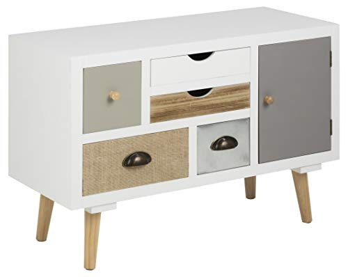 AC Design Furniture Suwen Buffet, MDF, Blanc, L: 34 x l: 81 x H: 55 cm