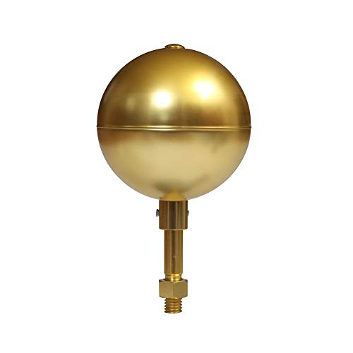 LQKYWNA 7,6 cm Fahnenmast Ball Top Ersatz Gold eloxiertes Aluminium Gold Ornament Finish für Flagge