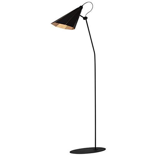 Homemania HOMAX_4696 - Lámpara de suelo Alhenaper para interiores, suelo, negro, dorado, de metal, 47 x 30 x 158 cm