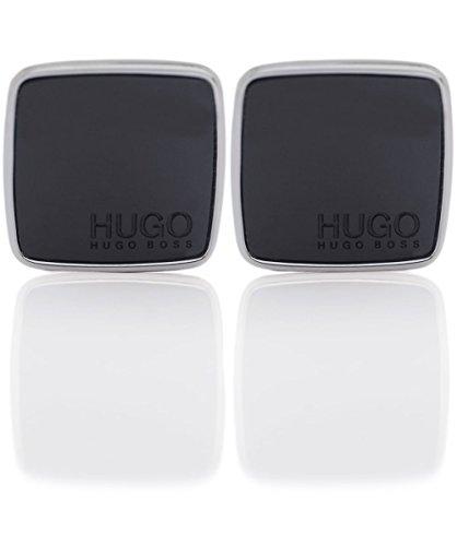 HUGO Herren Cuff Links E-Stain, Black (1), Einheitsgröße