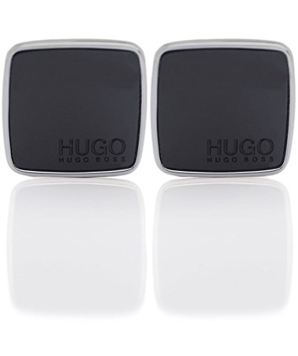 HUGO Mens E-STAIN Cuff Links, Black (1), ONESI