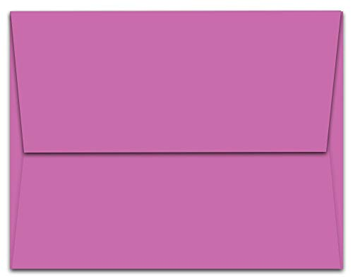 Note Card Cafe A6 6.5 x 4.75 in Blank Plum Purple Envelopes | 100 Pack | Sealable, Square Flap | Perfect for Invitations, Greeting Cards, Showers, Weddings, Mailing, Crafts, Stationary | Printable