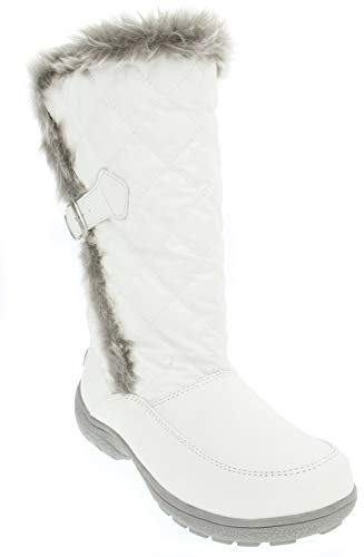 LONDON FOG Womens Lennox Waterproof Cold Weather Snow Boot White 7 M US
