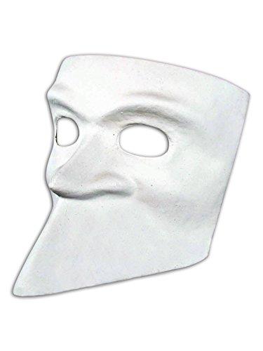 Magic of Venezia Venetian Full Face Blankopapier Mache Maske Bauta Do It Yourself für Männer und Frauen