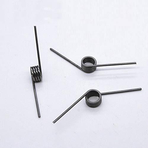 NO LOGO ZZB-LSTH, 1pc Torsion Federstahl High Strength V-förmigen Drahtdurchmesser 2,0 mm Außendurchmesser 14,7 mm Winkellänge 40 mm Schenkelfedern (Size : 2.0MM)